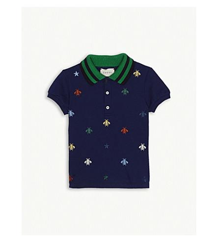 a44ca9eb GUCCI - Bee and stars polo shirt 3-36 months | Selfridges.com