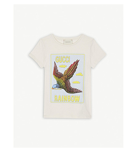 8fa8dbd9b GUCCI - Rainbow bird cotton T-shirt 4-12 years | Selfridges.com