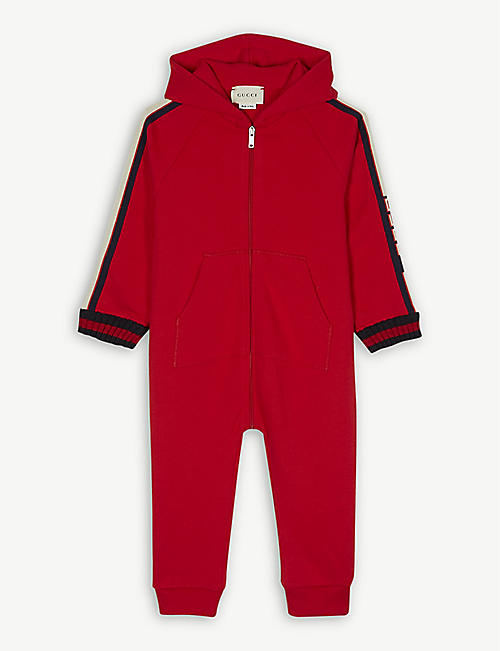a83a4c076 GUCCI - Logo tape cotton all-in-one 0-18 months