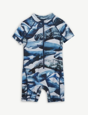MOLO Neptune whale print swimsuit 9-36 months
