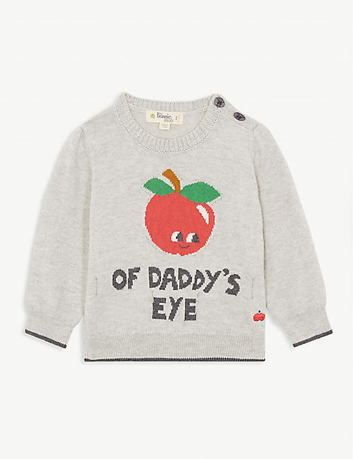 BONNIE MOB Apple of Daddy's Eye cotton and cashmere-blend jumper 3-18 months