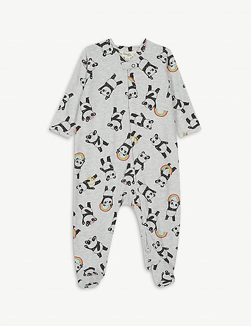 BONNIE MOB Pepper panda organic cotton-blend sleepsuit 0-18 months
