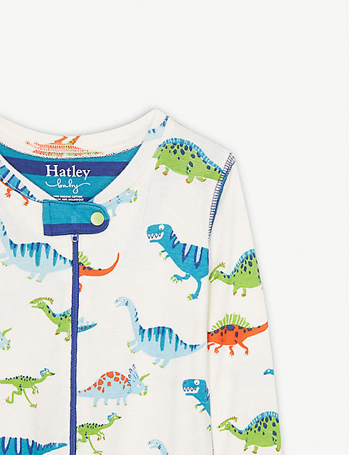 HATLEY Dinosaur print organic cotton all-in-one 3-24 months