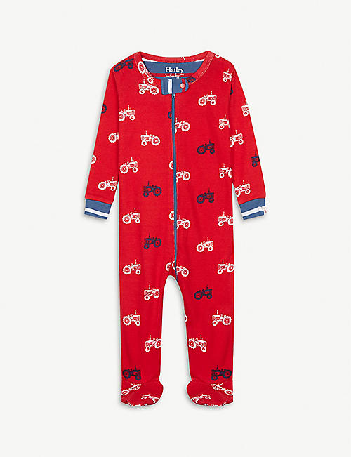 HATLEY Tractor print organic cotton all-in-one 3-24 months