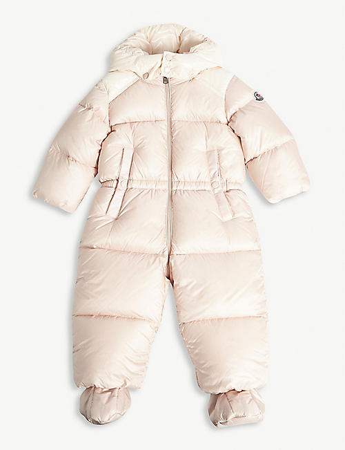 Moncler Girls Beige Snowsuit 3 Years