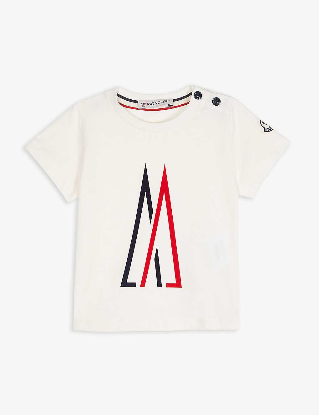 e48f9ad0c MONCLER - Logo print cotton T-shirt 3-36 months | Selfridges.com
