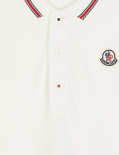 MONCLER Tipped cotton polo shirt 1-36 months