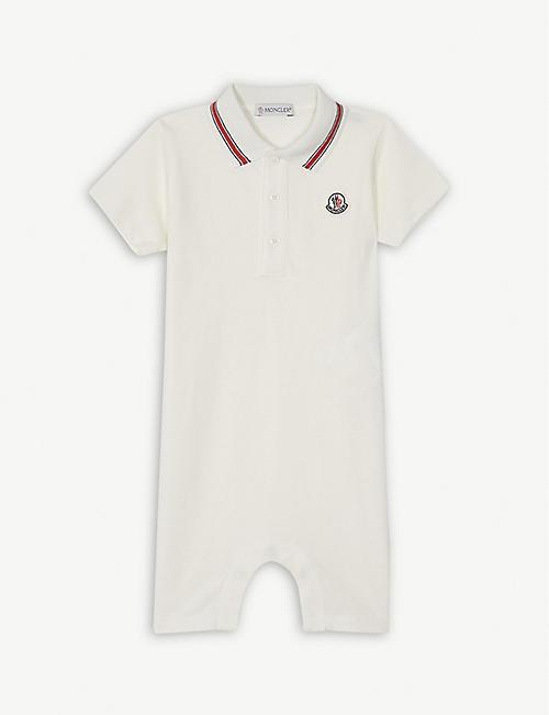 0c6d29dbe MONCLER Logo cotton-blend polo playsuit 3-24 months