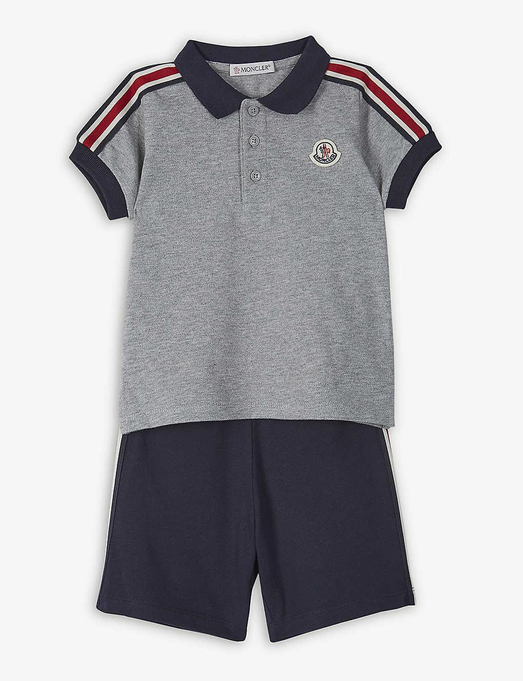 moncler shorts and shirt