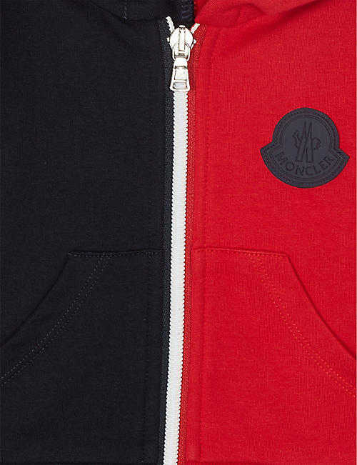 MONCLER Colour block cotton-blend tracksuit 3-36 months