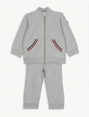 MONCLER Cotton-blend tracksuit set 18-36 months