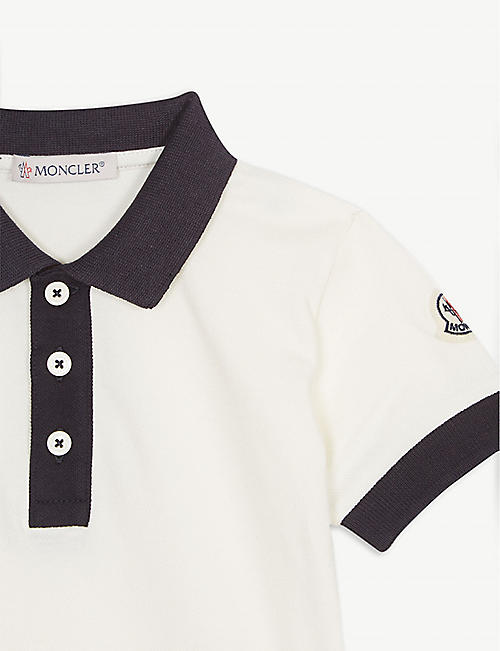 MONCLER Logo cotton-blend polo and shorts two-piece 1-36 months