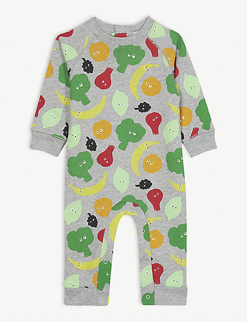 0b90c21c36f4 STELLA MCCARTNEY Fruit and vegetable print cotton bodysuit 6-12 months