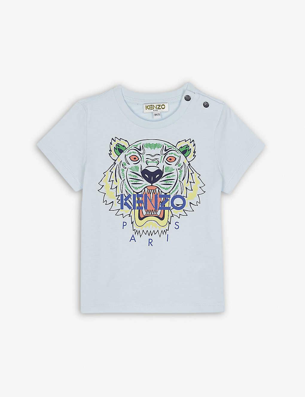 6ed4cba6f KENZO - Tiger print cotton T-shirt 3-18 months   Selfridges.com