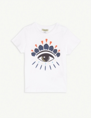 KENZO Eye logo cotton T-shirt 6-18 months