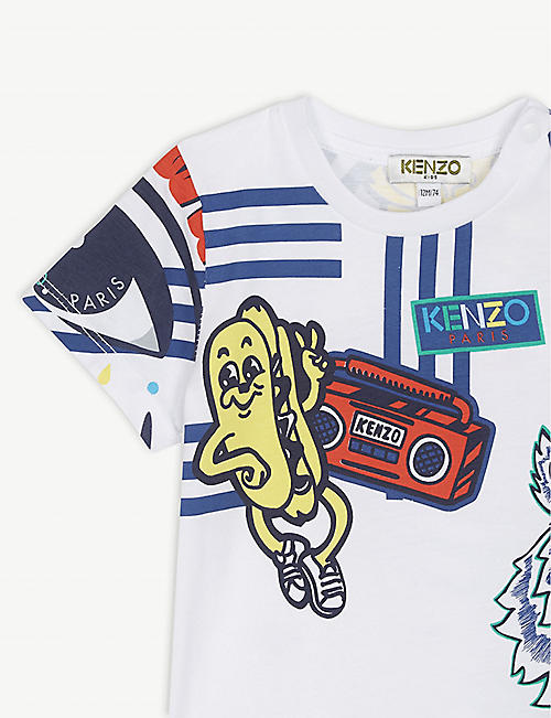 fd845733 KENZO Graphic cotton T-shirt 6-18 months