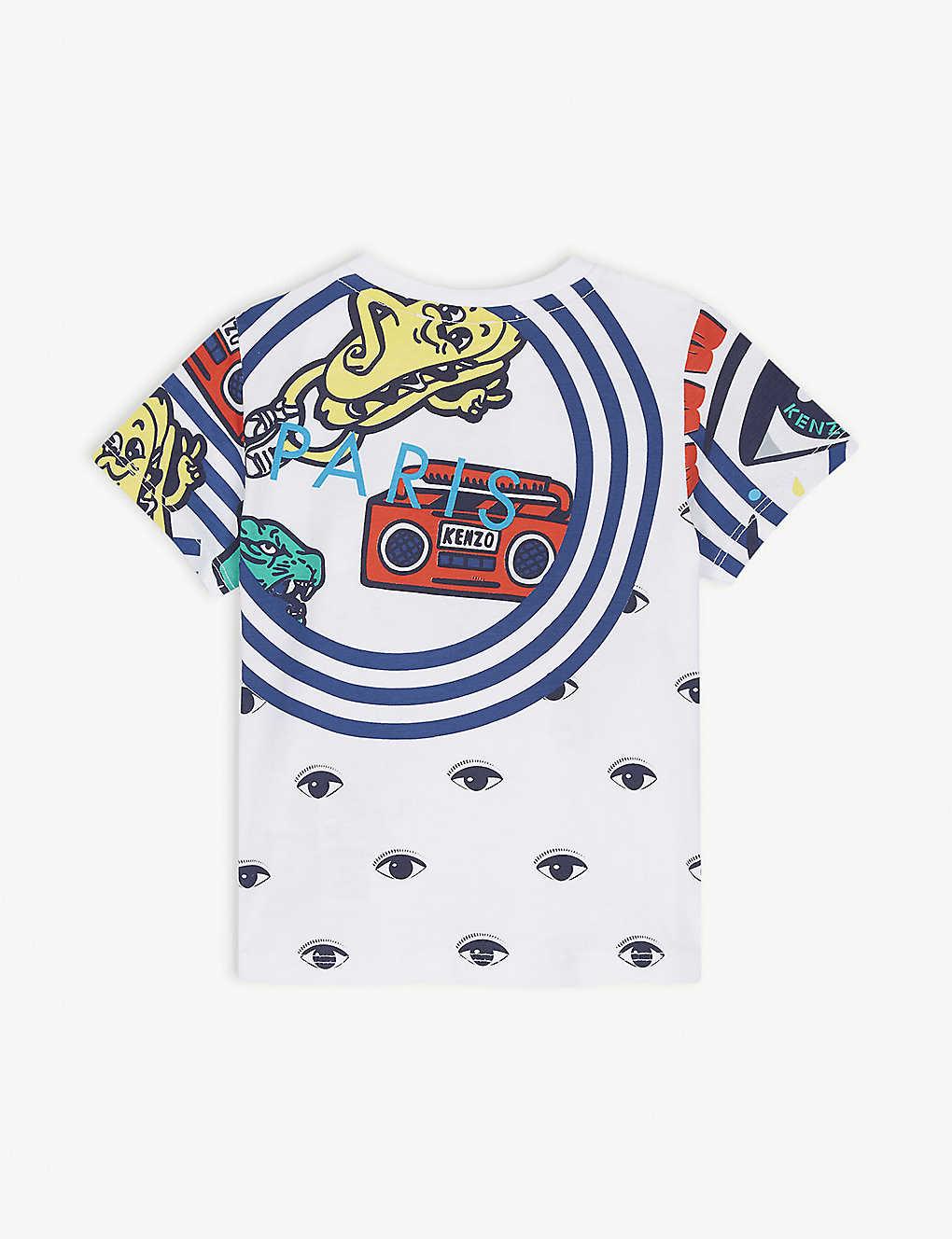 e986743c0 KENZO - Graphic cotton T-shirt 6-18 months   Selfridges.com