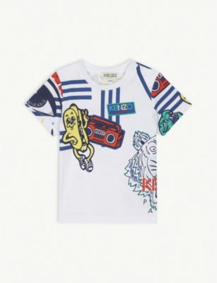 KENZO Graphic cotton T-shirt 6-18 months