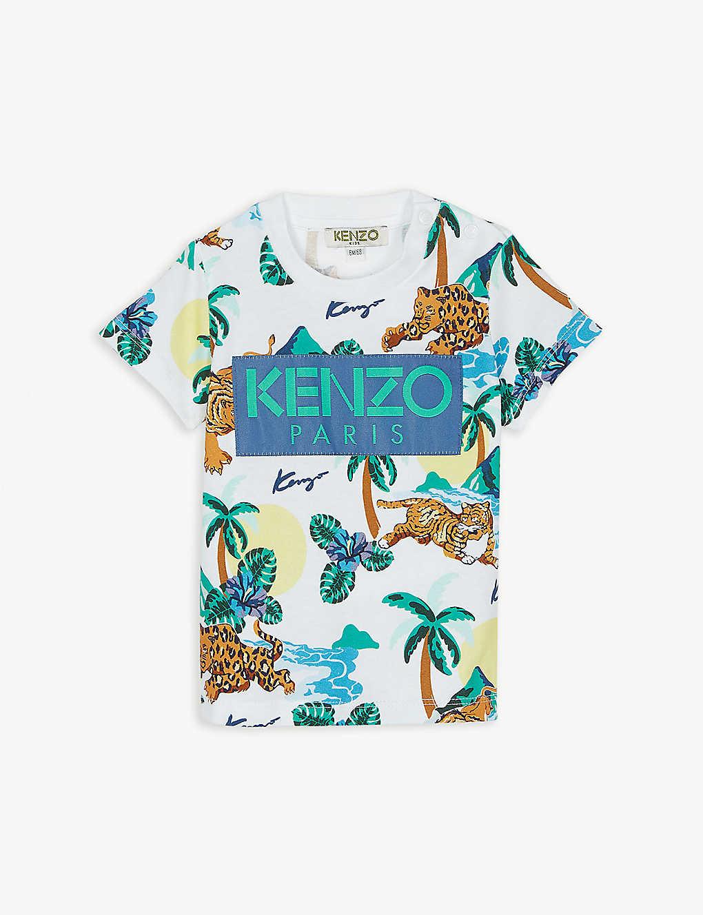 91a904dbc KENZO - Hawai cotton T-shirt 6-18 months   Selfridges.com
