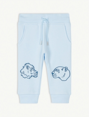KENZO Tiger And Friends cotton jogging bottoms 6-36 months