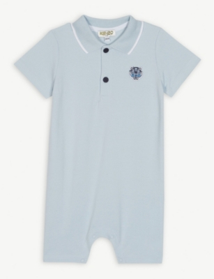 KENZO Logo cotton polo shortall 6-18 months