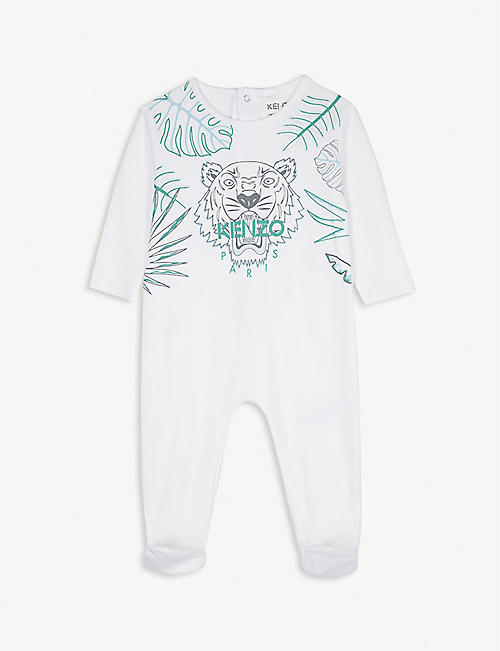 b49db678530 KENZO Tiger head cotton bodysuit 1-9 months
