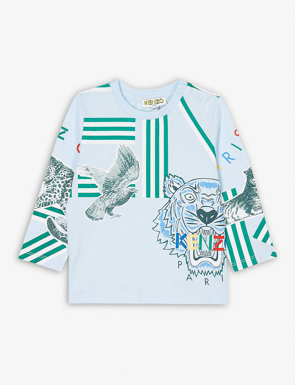 KENZO: Crazy Jungle cotton top 6-36 months