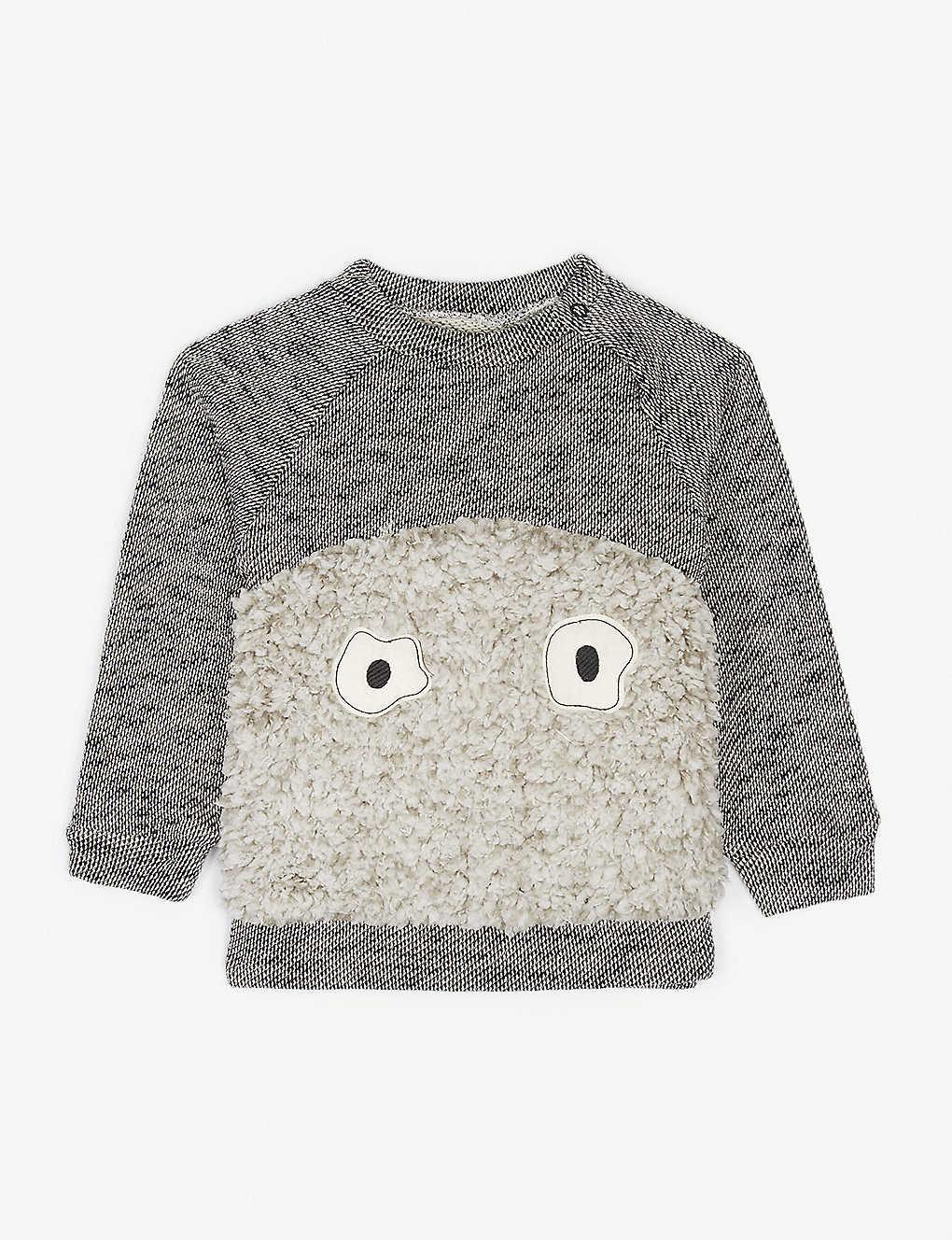 NOE & ZOE - Baby yeti organic cotton sweatshirt 3-18 months
