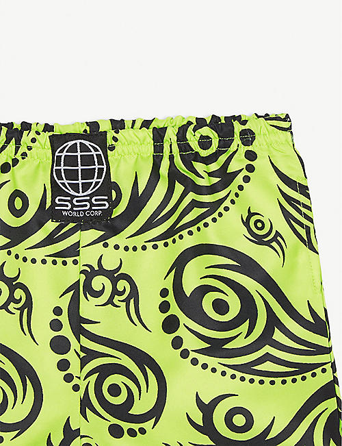 SSS WORLD CORP Tribal pattern quick-dry swim shorts 3-36 months