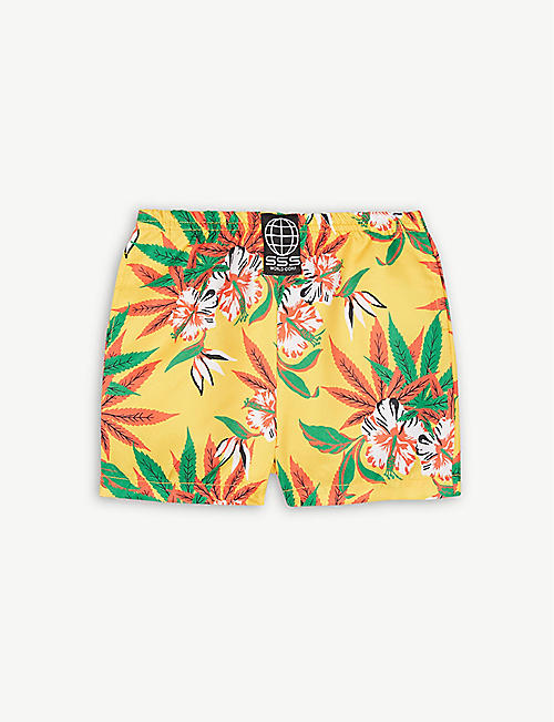 f4ebe05a85 SSS WORLD CORP Hawaiian print quickdry swim shorts 3-36 months