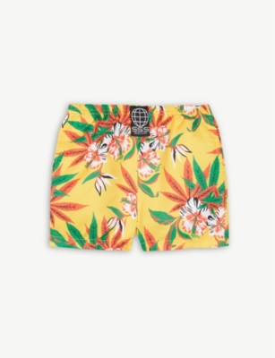 SSS WORLD CORP Hawaiian print quickdry swim shorts 3-36 months