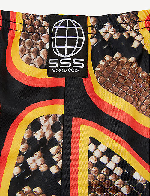 SSS WORLD CORP Snake-print quick-drying swim shorts 3 months – 3 years