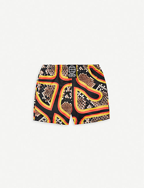 1bfb6e514a SSS WORLD CORP Snake-print quick-drying swim shorts 3 months – 3 years