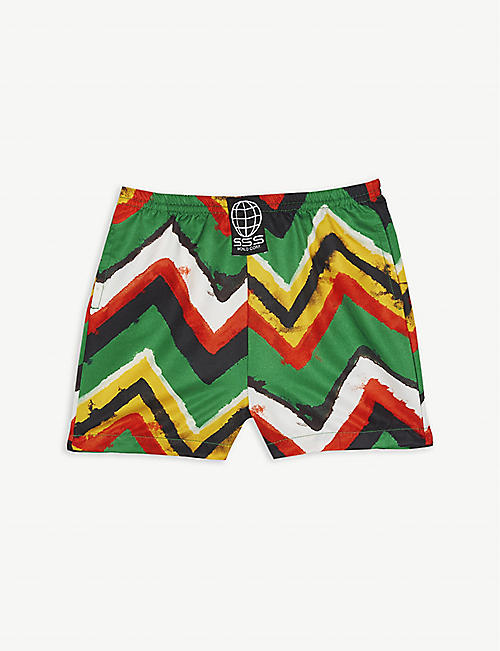 SSS WORLD CORP Stripe print quick-drying swim shorts 3-36 months