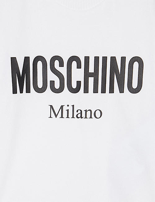 MOSCHINO Milano logo cotton T-shirt 3-36 months