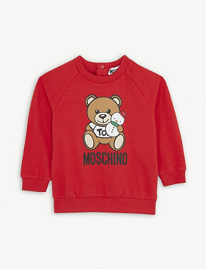 MOSCHINO Snowman bear cotton sweatshirt 3-36 months