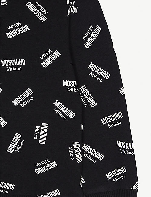 MOSCHINO All-over logo cotton sweatshirt 3-36 months