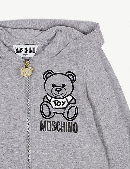ce65e52f6408 MOSCHINO Teddy marled cotton tracksuit set 3-36 months