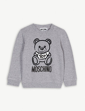 MOSCHINO Bear print cotton sweatshirt 3-36 months