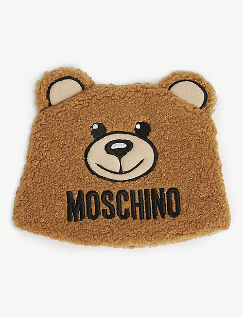 MOSCHINO Fleece bear hat 4-14 years
