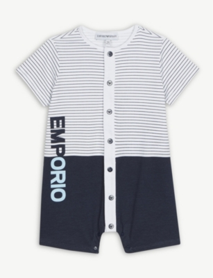 EMPORIO ARMANI Striped shortall 1-12 months