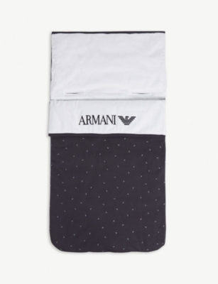 EMPORIO ARMANI Eagle logo quilted cotton nest