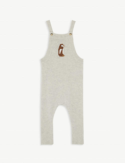 PETIT BATEAU Owl knitted wool-blend dungarees 1-18 months