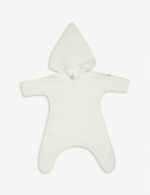 PETIT BATEAU Quilted knitted cotton-blend onesie newborn