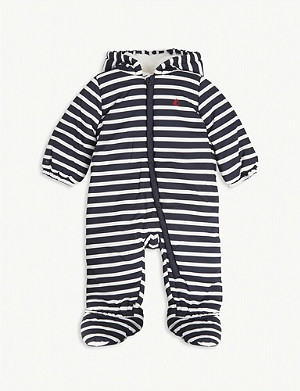 PETIT BATEAU Striped fleece-lined sherpa suit 3-18 months