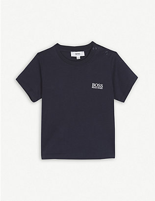 BOSS: Embroidered logo cotton t-shirt 3-36 months