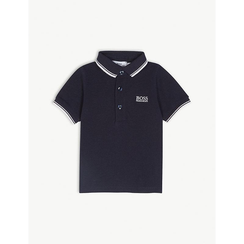 ac11a172 HUGO BOSS | Logo Short-Sleeved Cotton Polo Shirt 6-36 Months | Goxip