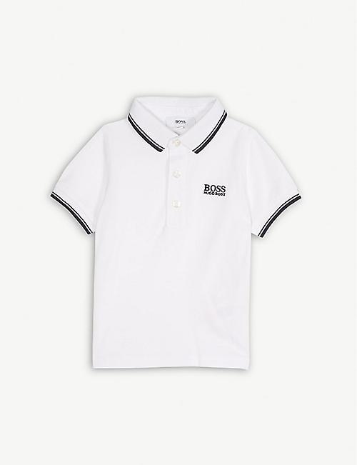 0d432288ed6b BOSS Logo short-sleeved cotton polo shirt 6-36 months