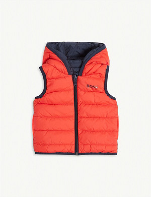 BOSS Logo reversible hooded gilet 6-36 months