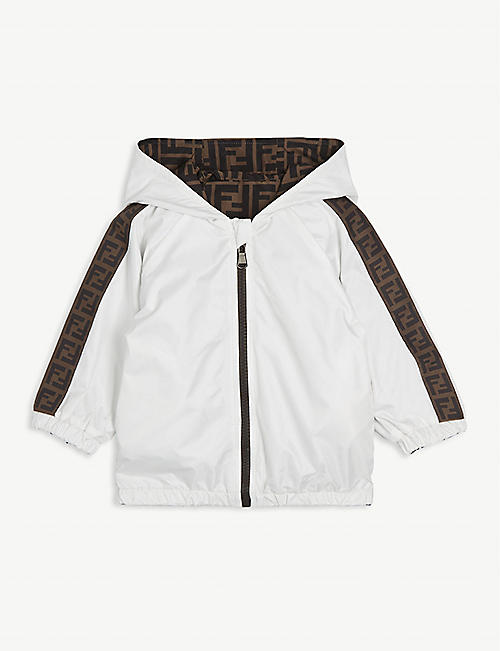FENDI Reversible logo tape windbreaker jacket 6 - 24 months